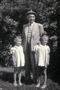 with their father Robert Faltus