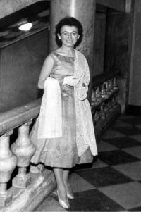 Zdena at the ball in Prague Lucerna