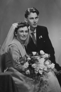 10 June, 1960 - the wedding with Jiří Uhlíř
