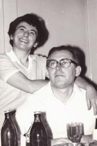 Zdena with her husband Jiri 1970s to 1980s