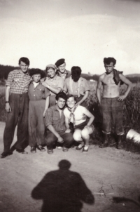 1955-6 - brigade in Šumava