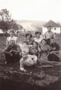 1956 - brigade in Olšov - Žlábek