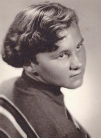 1956 - brigade in Žlábek, Ida Fararikova