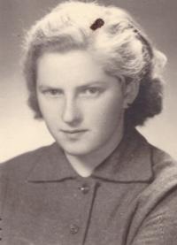 1956 - brigade in Suš, Věra Kořízková