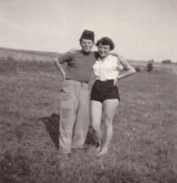 1956 - Zdena with Franta Veber at brigade in Šumava