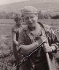 "1955-6 - brigade in Šumava, with Franta Veber called ""Kujva"""