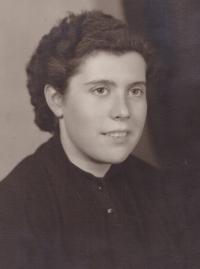1955 - brigade in Suš, Jiřina Holobírková
