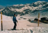Vladimírova žena Zdeňka v Alpách