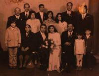 Wedding photo - the Gabčo family, Rotava, 1973