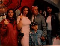 František with his three daughters and son, Kraslice region, beginning of the 1990s