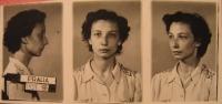 Photo of Havlůjová from prison in 1953