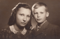 A photo of Miluška and her brother Karel that their mother had with her while imprisoned in the Small Fortress at Terezín