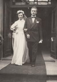 Wedding with Miroslav Havlůj, 1950