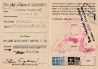 Membership card of the Union of National Revolution