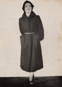 Modelling for the Institute of Home and Fashion Culture in 1951