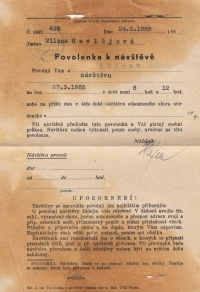 Permission to visit, 27 March 1955