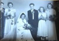 Wedding of Marie and Ignác Žerníček in 1951