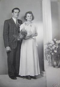 Alois Houserek with his wife. One of the three Czechs serving in Štolnava during the war