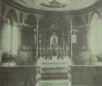 The interior of the former chapel of Sts John and Paul in Štolnava