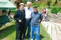 Ignác Žerníček (on the right) with his German friends