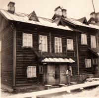 dům pro zaměstnance továrny v Gubaše, SSSR,domov rodiny Sirotkových