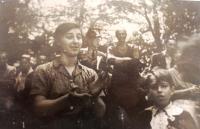 Eva Hahnová-Goldstein, předválečné foto