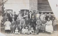 Legionary colony residents in Straz pri Cope in 1935 (witnesses third from left bottom row, her parents second and third from left in upper row)