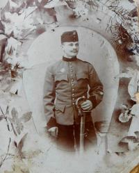 Father Josef Drozd at the lancers in the Austro-Hungarian army
