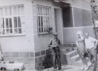 With her uncle visiting her homeland in 1973