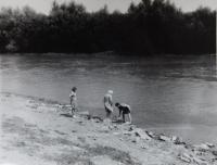 At the riverside of Latorica during a visit to her homeland in 1973