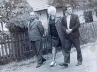 Amid Marie Čubokové visiting her homeland in 1973