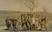 At school in Hájovo during war