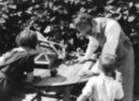 Jan Sokol s dědečkem a bratrem