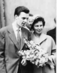 Svatba s Františkou Patočkovoum v roce 1961