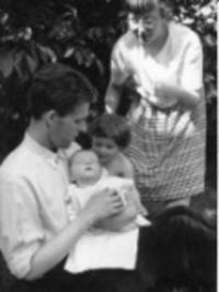 S rodinou v roce 1963
