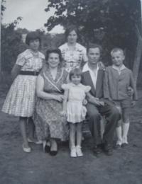 Gizela Boriková s rodinou