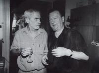 Vaclav Danek and the writer Jiri Stransky