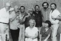 Vaclav Danek with colleagues in Czech Radio in 90's