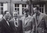 Miloslav Jares, Otakar Cernoch, Viktor Nekrasov a Vaclav Danek (from left)