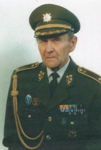 Antonín Husník in military uniform