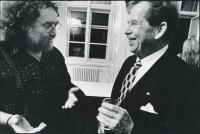J. Skalník with V. Havel (1990)