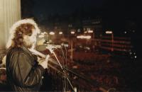J. Skalník 26. 11. 1989 in Wenceslawsquare