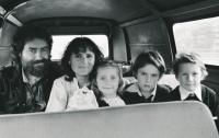 J. Skalník with wife and children