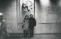 J. Skalník with wife