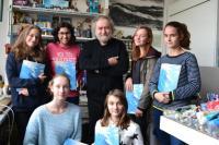 J.Skalník with the pupils from Ant. Čermáka Primary School - november 2016