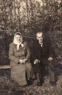 Miriam's grandparents, 1956