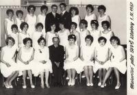 Graduation ball, Miriam in middle row third from the left