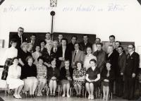 At school reunion in 1982 (Josef Tvrzník in the top row - third from the right)