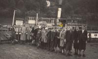 On school trip in the Czech Switzerland, 1944 (Josef Tvrzník - see the arrow)