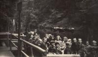 On school trip in Hřensko in 1944